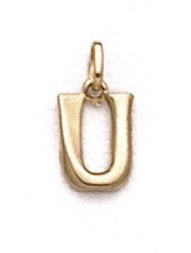 """Poli 14 Carats Pendentif initiale U 11/16 """"- JewelryWeb"""