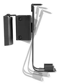 per gestione cavi nero 2 supporti per montaggio a parete girevole inclinabile 2 coppie da 3 kg Supporto da parete per altoparlante Sonos One e Play:1 Boxe