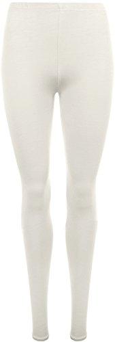WearAll Plus Size Women's Full Length Leggings - Cream - US 16-18 (UK 20-22)