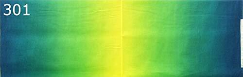 ハワイアン生地【301 青 黄色 系】グラデーション・ぼかしMahana 綿100%のおしゃれなハワイアンファブリック。ハワイアンキルトやパッチワーク、フラダンスのパウスカートなどにオススメの布【1m単位】の商品画像
