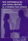 Sex Differences and Similarities in Communications 9780805823332