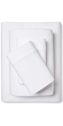 - Room Essentials Jersey Sheet Set Solids (Solid White, Full)