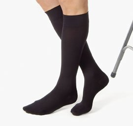 Jobst Relief Compression Knee High Stockings, 20-30mmHg, Black, Small, 1 Pair