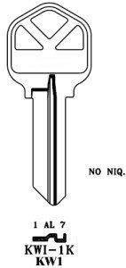 KW1 Kwikset Nickel Key Blanks Box 250 by (Np Key Blanks)