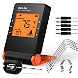 Morpilot Wireless BBQ Thermometer,Bluetooth Digital Meat Thermometer for Grilling Smart with 6 Stainless Steel Probes APP Remoted Monitor for Cooking Smoker Kitchen Oven