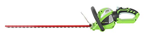 Greenworks 24-Inch 40V Cordless Hedge Trimmer with Rotating Handle, Battery Not Included 22332 Renewed