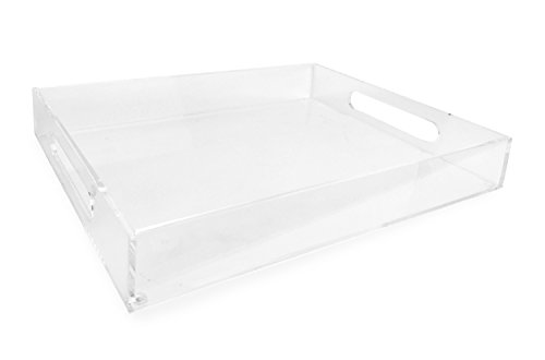 Isaac Jacobs Acrylic Tray (11x14, Clear) (Insert Lucite Tray)