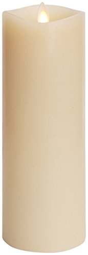 Luminara Flameless Candle: 360 Degree Top, Vanilla Scented Moving Flame Candle with Timer (8
