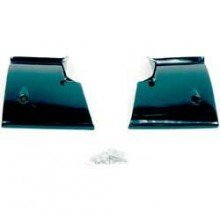 68-72 Nova Rear Window Lower Corner Moldings-Pair (Lower Rear Molding)
