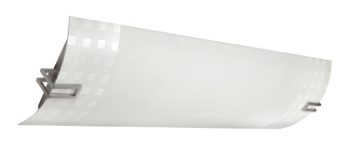 Lighting by AFX CAL432SNMV Chase Multi-Volt Linear 2-Lamp Fixture, Crushed Bark Pattern with Curved White Frost Diffuser