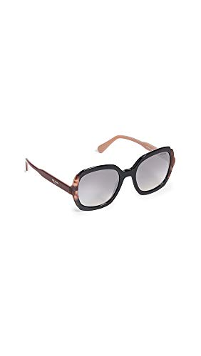 Amazon.com: Prada Womens PR 16US Square Sunglasses, Black ...