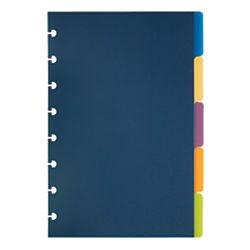 TUL(TM) Custom Note-Taking System Discbound Tab Dividers, 5 1/2in. x 8 1/2in., Junior Size, Assorted Colors