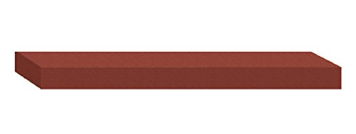 "Dedeco 0214 Rubberized Abrasive Block/Stick, Silicon Carbide, Fine, 6"" x 1"" x 3/8"", Red"