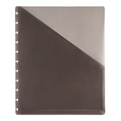 TUL(TM) Custom Note-Taking System Discbound Pocket Dividers, 8 1/2in. x 11in., Letter Size, Gray, Pack Of 2