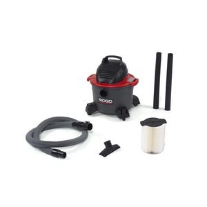 RIDGID 50308 6000RV Portable Wet Dry Vacuum, 6-Gallon Shop Vacuum with 4.25 Peak HP Motor, Casters, Pro Hose, Blower Port, Accessory Storage by Ridgid