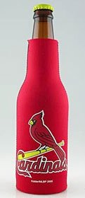 (MLB St Louis Cardinals Red Neoprene Bottle Koozie)