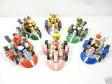 BIGOCT Mario Kart Cars Pull Backs Figure Set