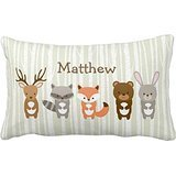 cute-woodland-animals-personalized-monogram-mod-pattern-any-color-home-throw-pillow-case-pillow-case