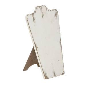 - Whitewash Wooden Necklace Displa Easel, 8.5