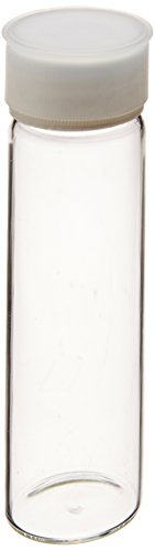 Eagle Picher Scientific 40C-TOC/DB Total Organic Carbon (TOC) Certified Vial with Cap Cover, Open Top Cap, Clear, Double Box, 40mL Capacity (Case of 144) (Clear Certified Vials)