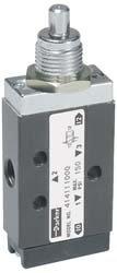Manual Air Control Valve, 3-Way, 1/8In NPT