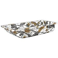 Shappell Multi-Purpose Jet Sled 1 in Winter Camo with Molded Runners and Contoured Hull, Dimensions 54 in. L x 25 in. W x 10 in. H by Shappell