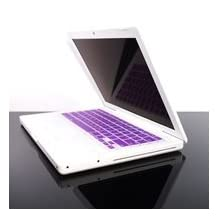 """TopCase PURPLE Keyboard Silicone Skin Cover for Macbook 13"""" 13.3"""" (1st Generation/A1181) with Free Mouse Pad"""