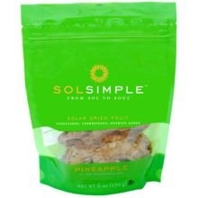 Sol Simple Organic Pineapple Dried Fruit, 6 Ounce - 6 per case.