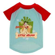Disney Mickey & Minnie Mouse Holiday Tee Shirt Costume (Small, Teal Pluto)]()