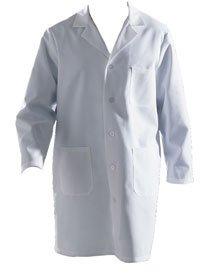 Long-sleeve Full-length White Lab Coat Size 42: Protective Lab ...