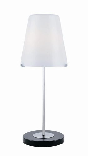 (Lite Source LS-21910 Table Lamp with Frost Glass Shades, Steel Finish, 8.5