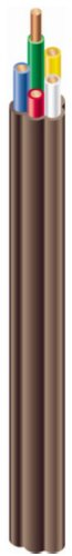 Southwire 64169622 5 Conductor 18/5 Thermostat Wire, 18-Gauge Solid Copper Class 2 Power-Limited Circuit Cable, 50-Feet, Brown