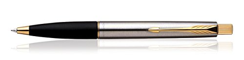 Parker Frontier Stainless Steel GT Ball Point Pen Brand New Quink Blue Ink Fine Nib
