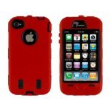 iphone 3gs outer box cases - iPhone 3G / 3GS Body Armor - Red & Black