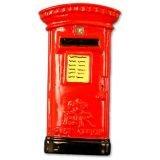 Collectible, Adorable Ceramic London Great Britain English British Post Box / Mailbox Magnet Souvenir! Souvenir / Speicher / Memoria! Hand-Painted Ceramic Collectible Post Box / Mailbox Magnet! A Classic and Detailed British Souvenir! Aimant / Magnet / Magnete / Imán!