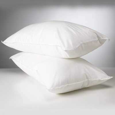Linens Limited Polycotton Hollowfibre Non-Allergenic Pillows, 2 Pack