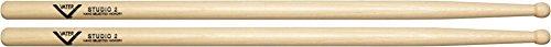 Custom Hickory Wood Tip Drumsticks (Vater American Hickory Studio 2 Drumsticks Wood)