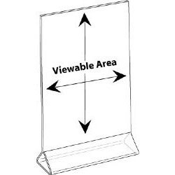 Clear-Ad - LHB-8511 - Clear Acrylic Upright Sign Holder 8.5x11 - Table Menu Card Display Stand - Plastic Picture Frame in Bulk (Pack of 25)