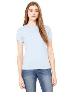 6000 Bella Jersey Knit Tee - Bella Ladies Crew Neck Super Soft baby Jersey Knit T Shirt - Baby Blue 6000 S