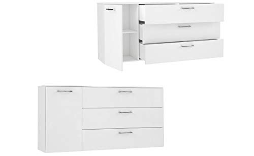 Kommode Highboard SIMPLE mit Beleuchtung