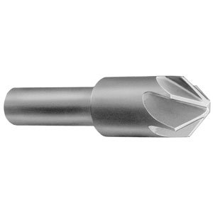 """3//8/"""" X 82 DEGREE HIGH SPEED STEEL 3 FLUTE COUNTERSINK  1//4/"""" SHANK MADE IN USA"""