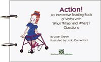 Action! An Interactive Reading Book of Verbs with Who? What? And Where? Questions ()