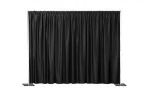 Georgia Import & Trading - 14 Ft. Backdrop (7-12 Adjustable) w/ Poly Premier - 7-12X14 - Silver