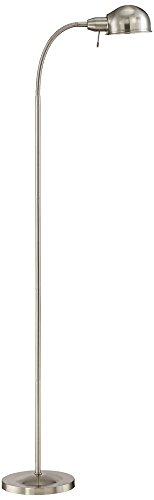 Ridley Satin Nickel Gooseneck Floor Lamp - 61