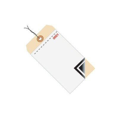 Shoplet Select Inventory Tags 3 Part Blank W/Carbon 8 - Pre-Wired Shpg17503 by Shoplet Select
