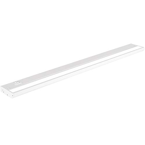 LED Under Cabinet Lighting by NSL - Dimmable Hardwired or Plugged-in installation - 3 Color Temperature Slide Switch - Warm White (2700K), Soft White (3000K), Cool White (4000K) - 32 Inch White Finish