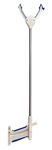 Juvo RG301 Lightweight Reacher/Grabber Mobility Aid, White/Blue, 30-inch ()