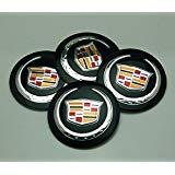 BENZEE 4pcs D036 56.5mm Car Emblem Badge Sticker Wheel Hub Caps Centre Cover Black Cadillac ATS CTS EXT