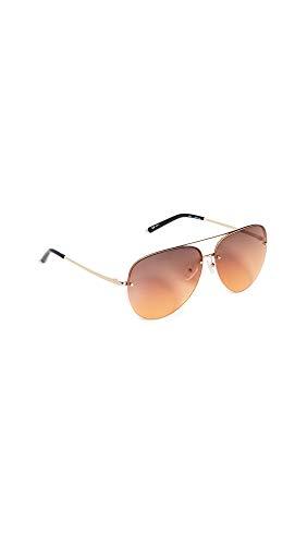 Linda Farrow Luxe Women's Matthew Williamson x Linda Farrow Classic Aviator Sunglasses, Gold/Orange/Black, One ()