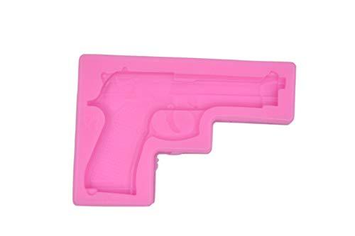Gun Pistol Silicone Mold 3D Soft Gun Clay Gum Cake Decorating Fondant Sugar Craft Molds Candy Chocolate Mold (Gun Cake Mold)